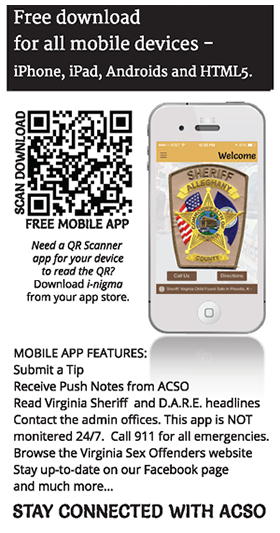 Alleghany County Sheriff - Download our Mobile App